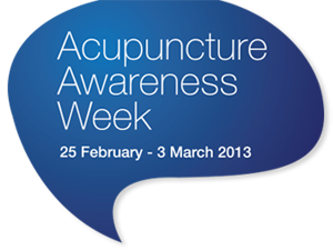 Acupuncture Awareness Week 2013